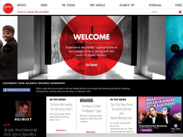 Le site officiel d'Atlantic Records