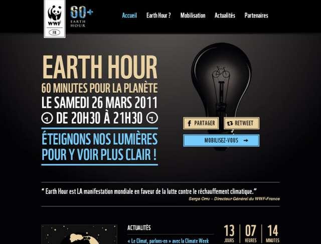 Le site évènementiel Earth Hour