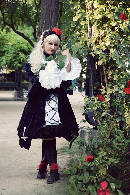 Coralie déguisée en Singintou deRozen Maiden