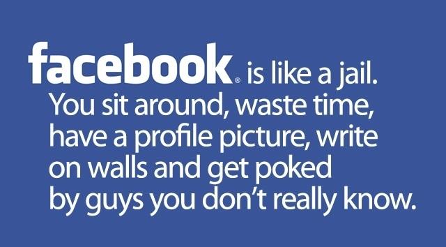 Facebook c'est comme une prison