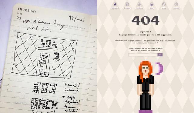 Concept et design de ma page 404