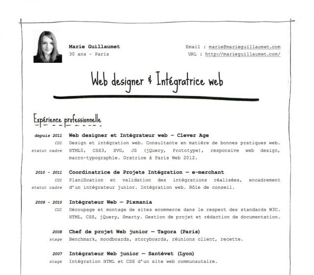 Mon CV papier