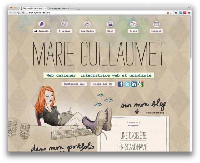Mon site sur desktop