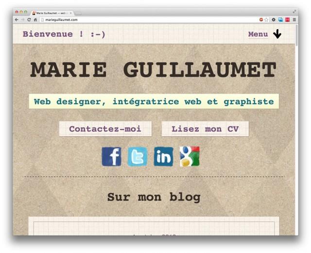 Mon site version «mobile» sur desktop