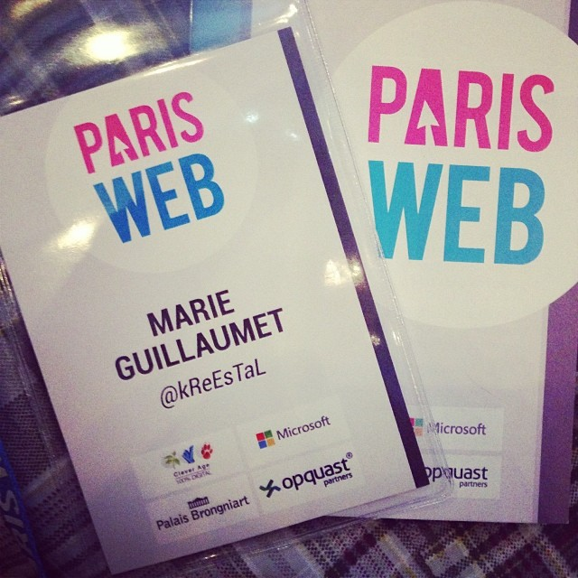 Mon badge Paris Web 2013