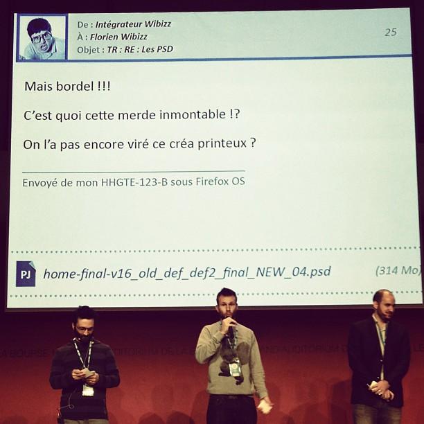 Lapremière conférence de Paris Web 2013