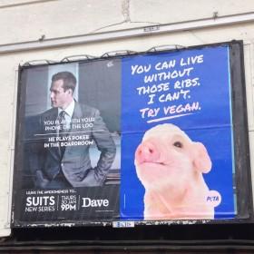 Publicité vegan à Londres