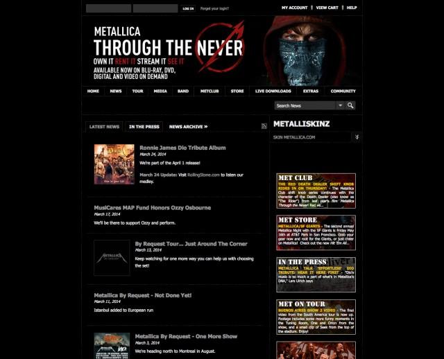 Site officiel de Metallica