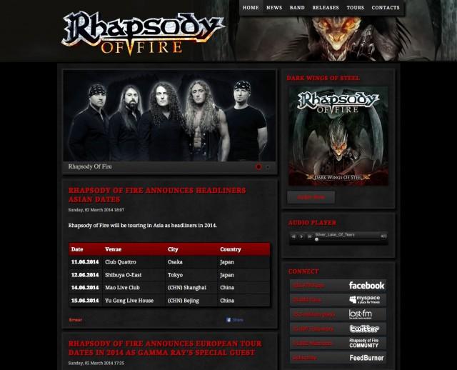 Site officiel de Rhapsody of Fire