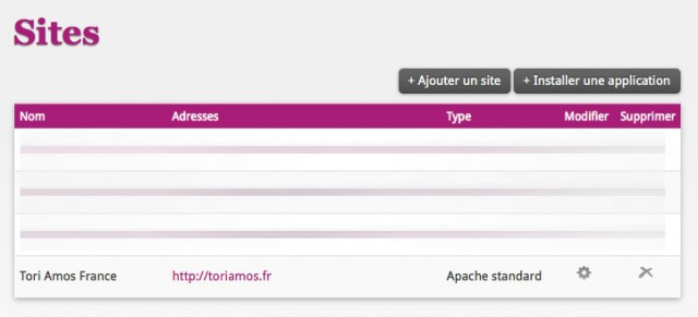 Configurer un site chez Alwaysdata