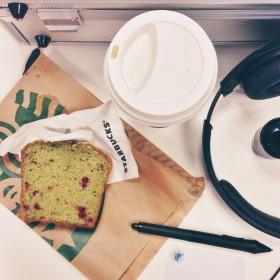 Chai tea latter et cake authé vert