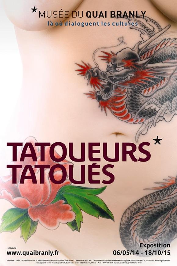 Exposition «Tatoueurs, Tatoués» auMusée duQuai Branly