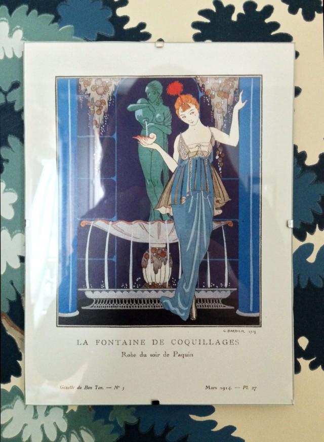 Une illustration de George Barbier, vue chez Sucre d'Orge