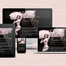 Sucre d'Orge : responsive web design