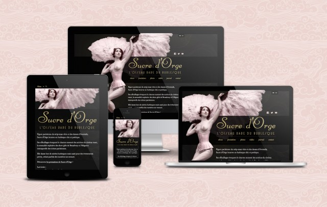 Sucre d'Orge: responsive web design