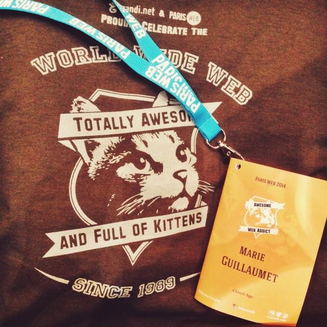 T-shirt et badge Paris Web 2014