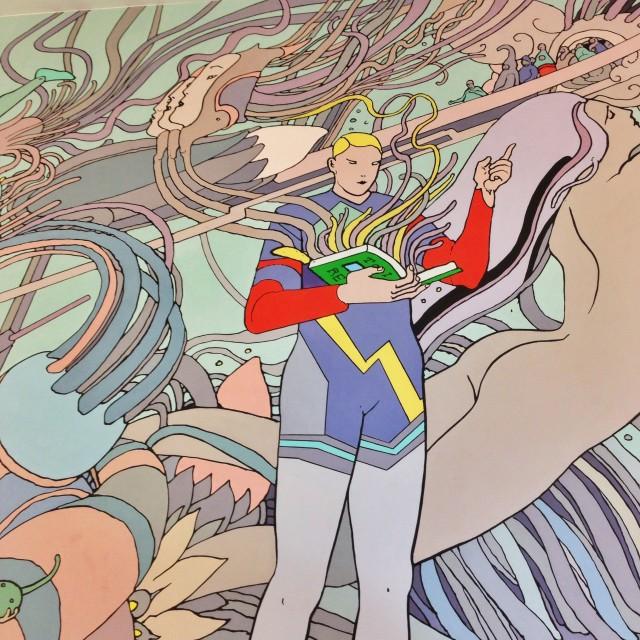 Fresque de Moebius visible au Beffroi de Montrouge