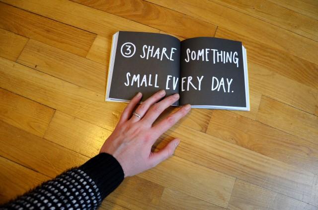 Partagez un petit quelque chose chaque jour