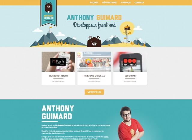 Le site d'Anthony Guimard