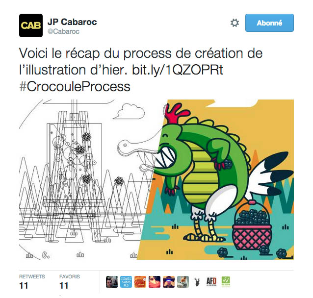 Making-of d'une illustration de Cabaroc