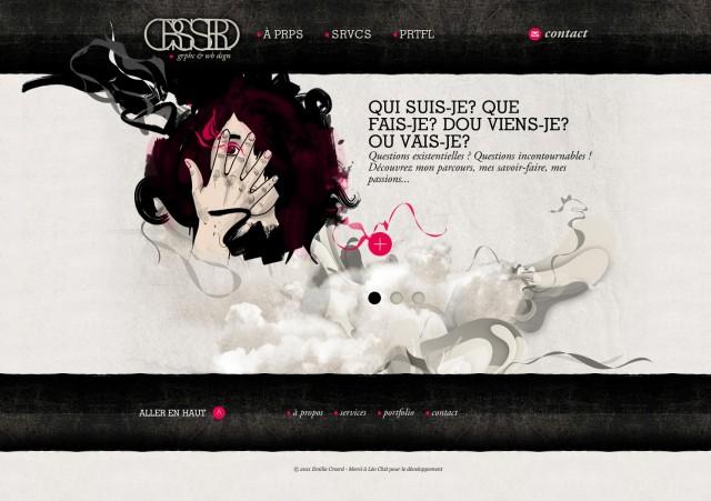Le site d'Émilie Crassard