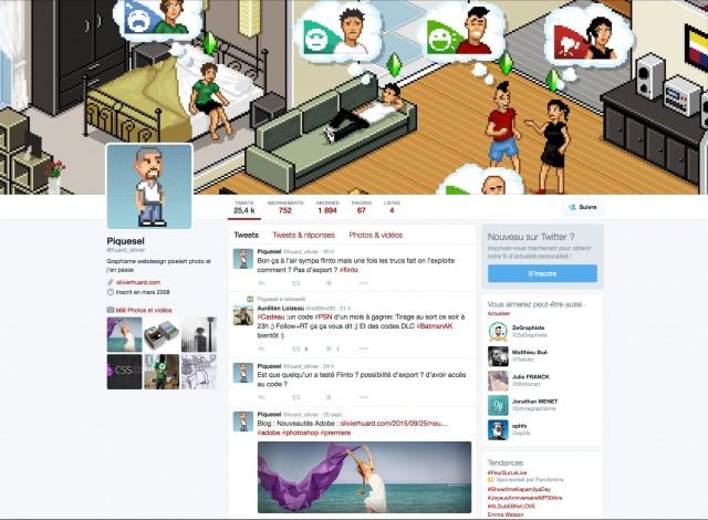 Le profil Twitter d'Olivier Huard