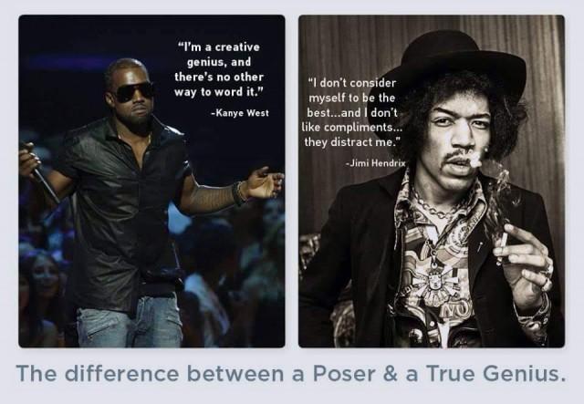Ladifférence entre un poseur et un véritable génie