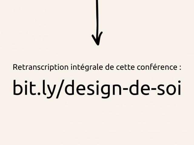 J'ai donné le lien de la retranscription de ma conférence au début de ma présentation