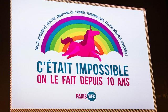C'était impossible, Paris Web le fait depuis 10 ans.