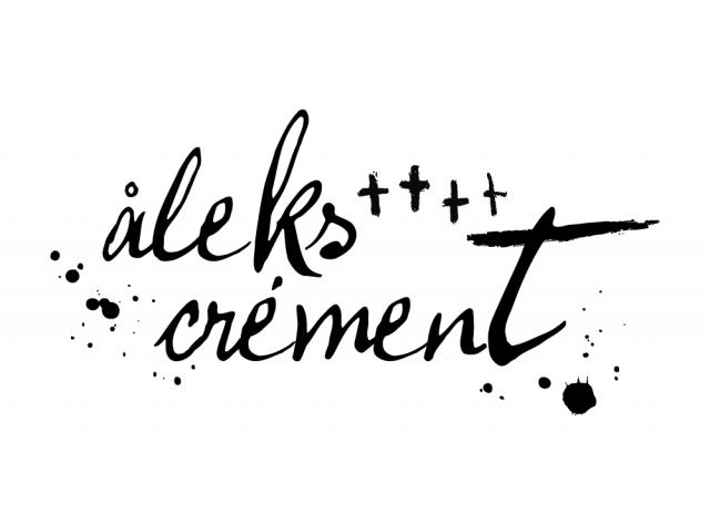 Logo pour Aleks Crément (noir sur fond blanc)