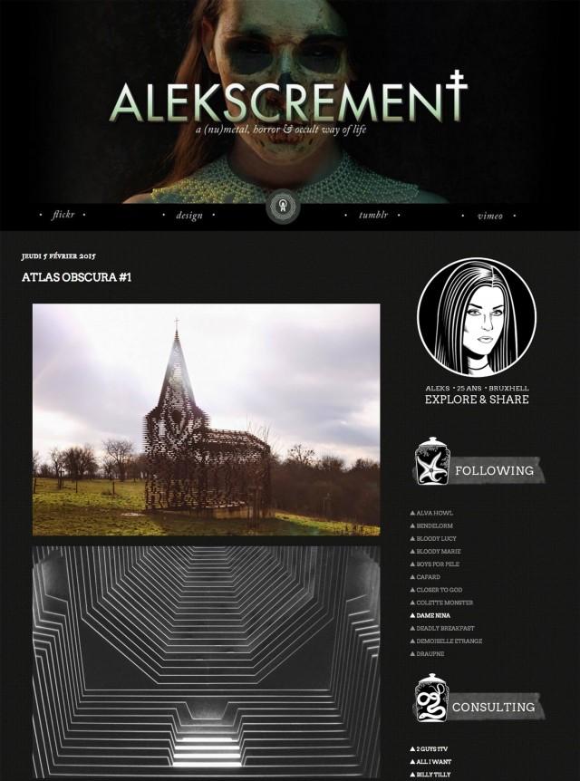 Le précédent design du blog d'Aleks