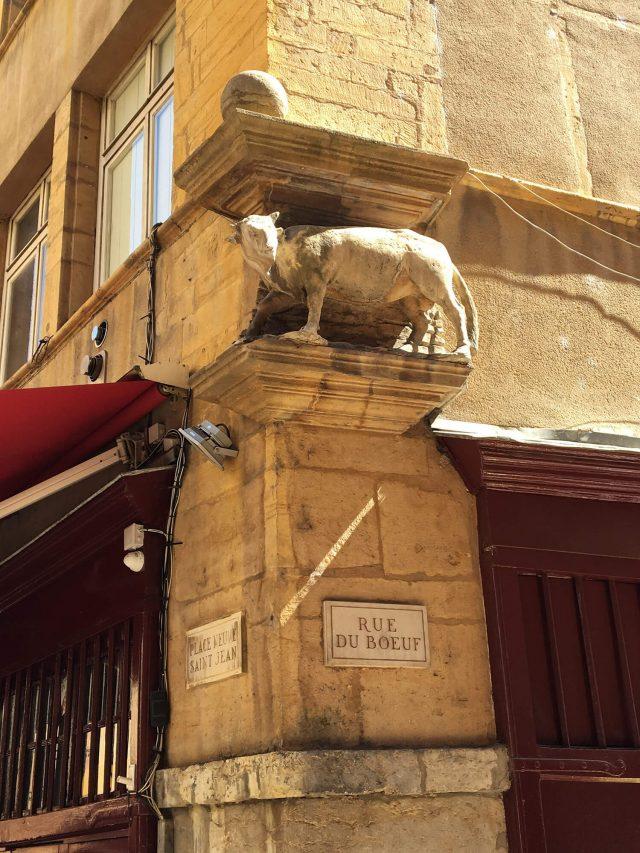Le taureaudela rue duBœuf, à Lyon